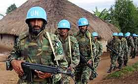 FN-soldater i Kongo. Disse er fra Pakistan. Foto: Simon Maina; AFP