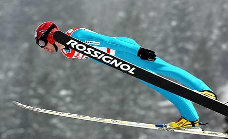 Magnus Moan la grunnlaget for sølvmedaljen i hoppbakken (Foto: Scanpix/Terje Bendiksby)