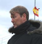 Landslagsjef Åge Hareide så Viking-kaptein Brede Paulsen Hangeland i La Manga i går. Foto: Lars Navestad