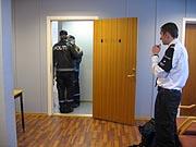 Politiet og vaktselskap holdt vakt i Horten tingrett.