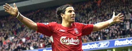 Milan Baros har jublet en del etter at han kom til Liverpool, men det har ikke vært nok. (Foto: Scanpix)