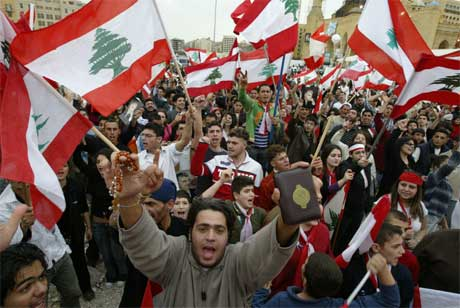 Opposisjonen i Libanon er rettet mot regimet, ikke mot det syriske folket.(Foto:AFP/Ramzi Haidar)
