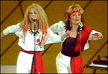 Langrennsdans: Dollie de Luxe i 1984 (Foto: NRK)