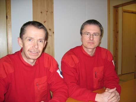 Sindre Mellesmo og Jan Erik Haugen. Foto: Svein Olav Tovsrud, NRK.