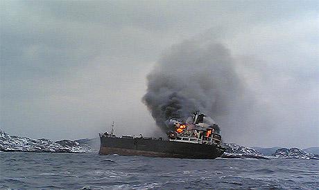 Fjord Champion i brann ved Uvår