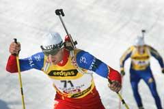 Egil Gjelland på vei til 12. plass på VM-sprinten. (Foto: Heiko Junge / SCANPIX)