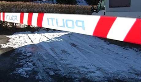 På denne parkeringsplassen slutter sporene etter tyvene ( Foto: Jonas Brenna, NRK )