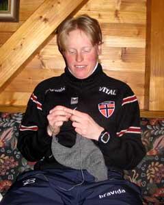 Tora Berger er landslagets storstrikker. (Foto: Kristian Elster/NRK.no)