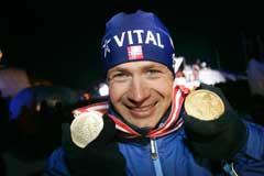 Ole Einar Bjørndalen har tatt to gull så langt i VM. (Foto: Heiko Junge / SCANPIX)