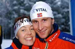 Ann-Elen Skjelbreid og Egil Gjelland har datteren Kristi. (Foto: Cornelius Poppe / Scanpix)