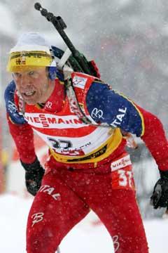 Halvard Hanevold endte på 30. plass på 20 km. (Foto: Heiko Junge / SCANPIX)
