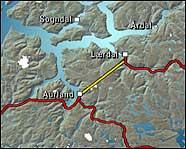 Tunnelen mellom Aurland og Lærdal er verdas lengste vegtunnel.