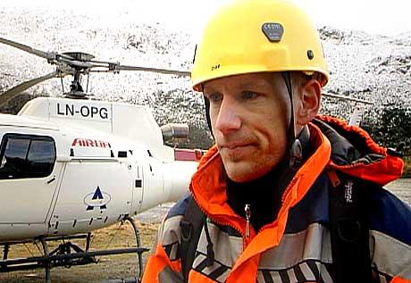 Geolog Odd-Andre Rustad - foto Rune Kjær Valberg NRK