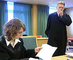 Førstestatsadvokat Geir Fornebo og politiadvokat Margrethe Torseter. Foto: Ivar Jensen, NRK