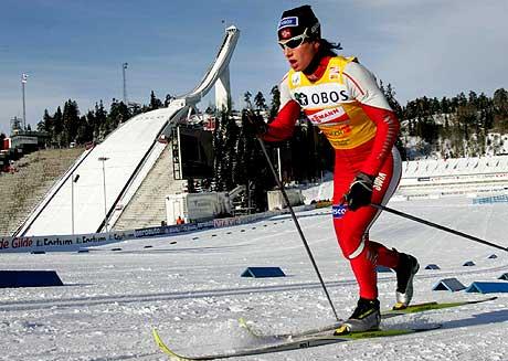 Marit Bjørgen vant klart i Holmenkollen lørdag (Foto: Scanpix/Ørn E. Borgen)