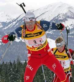 Halvard Hanevold Hadde raskeste langrennstid på første etappe. (Foto: Reuters / SCANPIX)