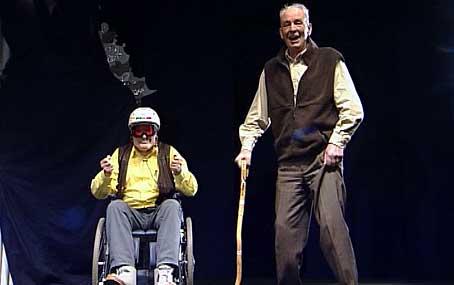 Odd Njøs og Ola Henjum i Palmerevyen i 2000.