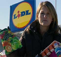 Hos Lidl får du allerede produkter som godteri og barneyoghurt med tilsatt vitamin. (Foto: NRK)