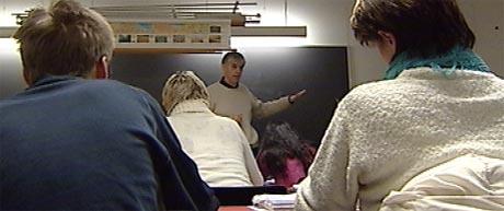 Fra et klasserom på en Sonans-skole. Foto: NRK