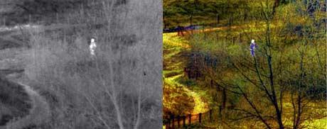 Bilder tatt med dagens kamer (t.v) og det nye kameraet (Foto: TNO)