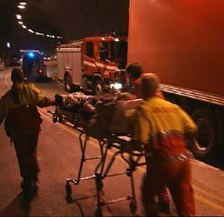 Det var svært glatt i tunnelen da ulykka skjedde. (Foto: Harald Gundersen / NRK)