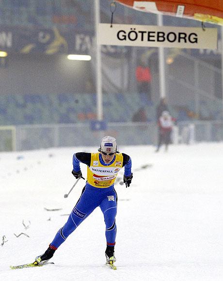 Marit Bjørgen var helt overlegen. Foto: Roger Lundsten / SCANPIX