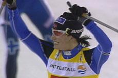 Marit Bjørgen var tilbake som verdens beste sprinter i Gøteborg (Foto: NRK)