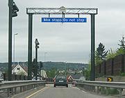 For få har passert bomringen i Tønsberg. Foto: NRK.
