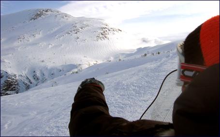 Her ser gjerne Christian Pettersson at utforløypa skal kome frå meir enn 1400 meters høgde, men da grenser alpinplanane inn i naturvernområdet. Foto: Gunnar Sandvik