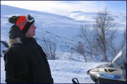 Christian Pettersson i Eikesdalsfjella. Foto: Gunnar Sandvik