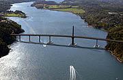 Denne broen blir det, slik det ser ut nå, ikke noe av. Illustrasjonsfoto: Statens Vegvesen.