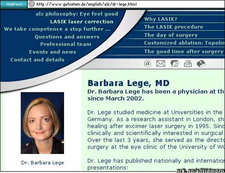 Dr. Barbara Lege er, naturlig nok, lege. (fra serien Barnslige utenlandske navn.
