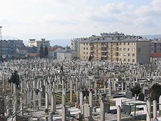 Alle gravstedene forteller sin egen historie fra krigen på Balkan. Foto Andreas Toft
