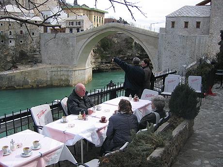 Turistene begynner å komme tilbake til Mostar. Foto Andreas Toft.