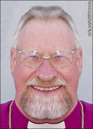 Biskop Kvarme, her i symmetrisk versjon, avviser ryktene om at skjegget hans er rompe-formet. (Alltid Moro)