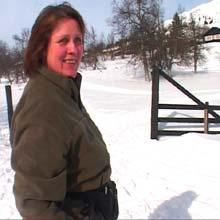Neste vinter kan hytteeier Kristin Stephansen-Smith få en ny stolheis ved hytta si. (Foto: Stein Schinstad)