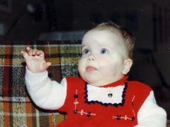 Inger Johanne som barn. (Familiefoto)