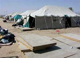 En av tunnelene ble gravd ut i dette teltet. (Foto: U.S. Army/Reuters/Scanpix)