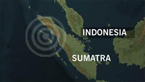 Nias-øya utenfor Sumatra i Indonesia er rammet av jordskjelv. NRK Grafikk.