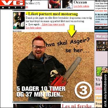 Asgeir er tilbake i en ny og litt slemmere versjon, i følge VG.no 29/3. (Innsendt av