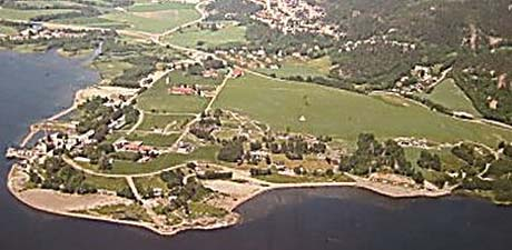 Det nye sykehuset som skal bygges for drammensområdet, skal ligge på denne tomta på Gullaug i Lier.