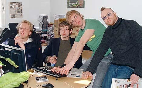 Span er med på nettmøte i NRK fra Universal sine lokaler. Foto: Gjermund Moastuen, Universal Music.