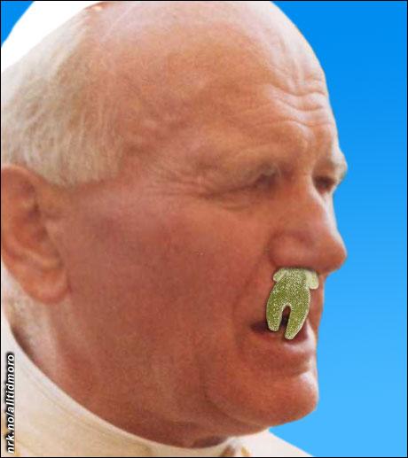 De siste dagene på sykeleiet fikk Paven matet gjennom nesen. (Alltid Moro)