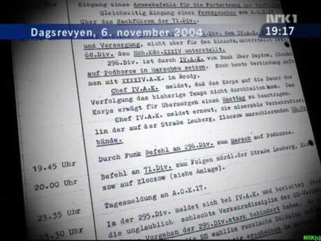 Dagsrevyen dokumenterte 6. november i fjor at også norske soldater var i avdelinger som deltok i massedrap på jøder. (Foto: NRK)