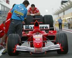 Ferraris nye bil ble vist fram i Bahrain. (Foto: Scanpix)