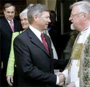 Både Bondevik og biskop Kvarme fikk mye omtale i mars.