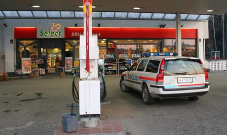 Shell-stasjonen på Gjemselund i Kongsvinger ble også ranet i oktober i fjor.(Foto:Marianne Olsen, NRK)