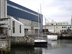 I dag brukes ubåt-dokkene som småbåtkai. Foto: Per Kristian Johansen, NRK
