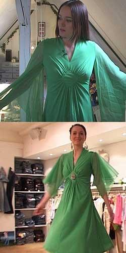 Marte med kjole fra UFF. Omsydd versjon nedenfor. Foto: NRK