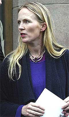 Leder for Skuespillerforbundet, Agnete Haaland, er opptatt av kunstneres rettigheter. Foto: Scanpix.